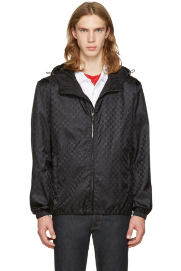 Gucci - Black GG Windbreaker