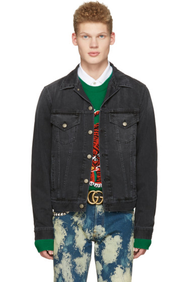 Gucci - Black Denim 'L'Aveugle Par Amour' Jacket
