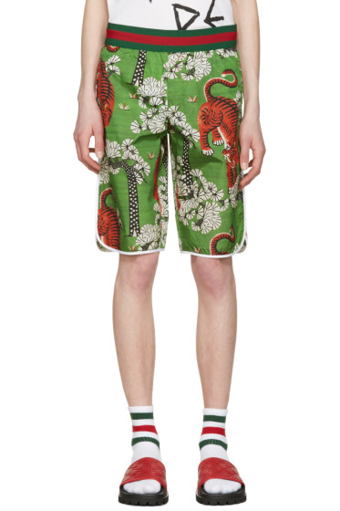 Gucci - Green Bengal Swim Shorts