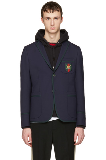 Gucci - Navy Formal Cambridge Blazer