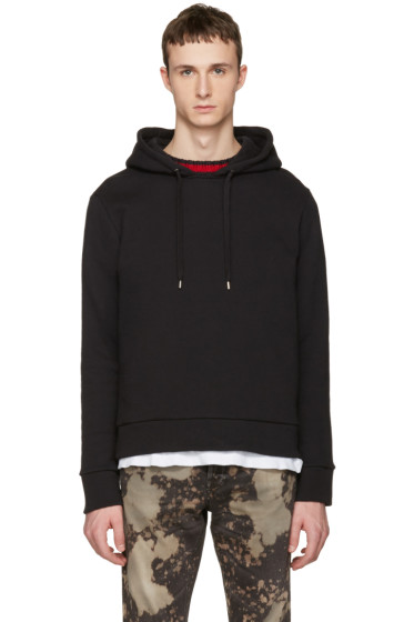 Gucci - Black Cable Knit Trim Hoodie