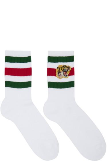 Gucci - White Little William Tiger Socks