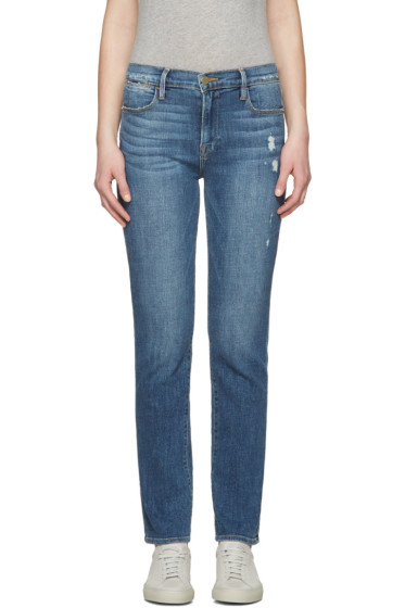 Frame Denim - Blue Le High Straight Jeans