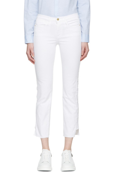 Frame Denim - White Le High Straight Jeans