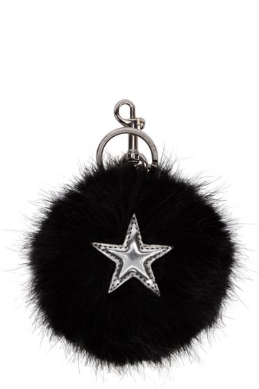 Stella McCartney - Black Faux-Fur Star Keychain