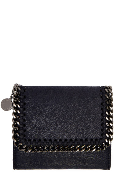 Stella McCartney - Navy Small Falabella Flap Wallet