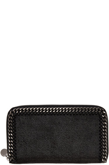 Stella McCartney - Black Falabella Zip Wallet