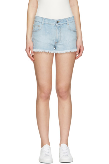 Stella McCartney - Blue Star Denim Shorts