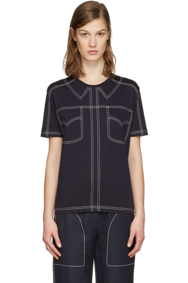 Stella McCartney - Navy Topstitched T-Shirt