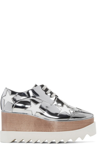 Stella McCartney - Silver Star Platform Elyse Derbys