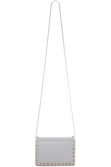 Valentino - Grey Rockstud Flap Bag
