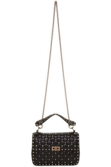 Valentino - Black Medium Rockstud Matelassé Bag