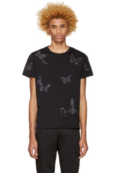 Valentino - Black Butterflies T-Shirt