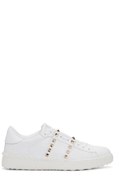 Valentino - White 'Rockstud Untitlted' 11 Sneakers