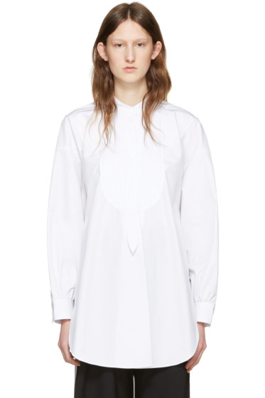 J.W.Anderson - White Cotton Plisse Shirt
