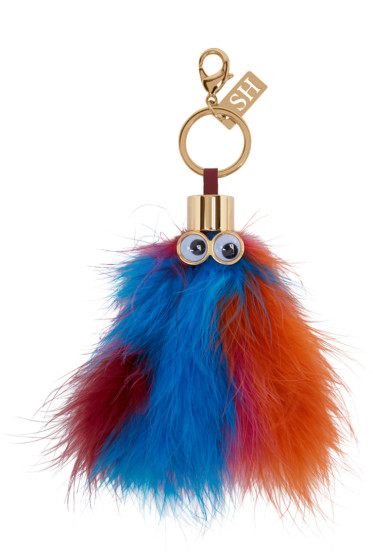 Sophie Hulme - Multicolor Feather Leonard Keychain