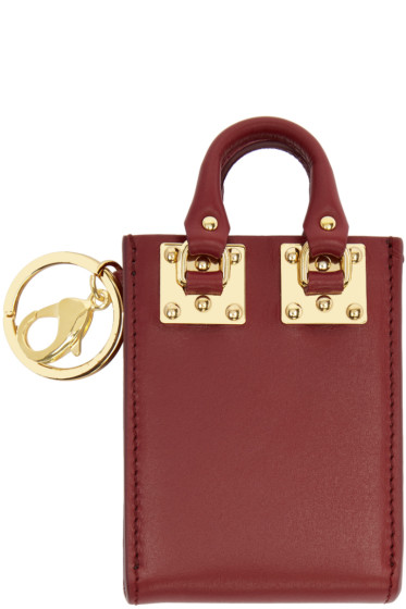 Sophie Hulme - Burgundy Albion Tote Keychain