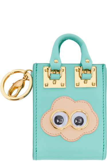 Sophie Hulme - SSENSE Exclusive Blue Cloud Albion Tote Keychain