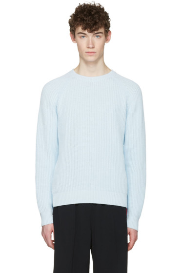 AMI Alexandre Mattiussi - Blue Ribbed Sweater