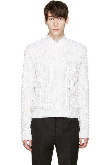 Calvin Klein Collection - White Peder Sweater