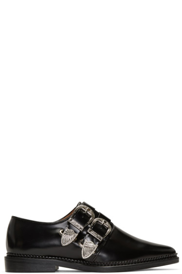 Toga Pulla - Black Two-Buckle Loafers