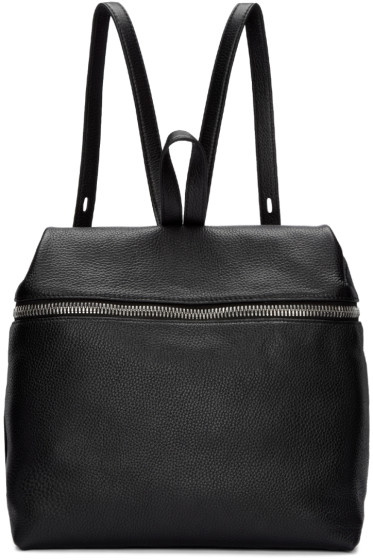 Kara - Black Large Leather Backpack
