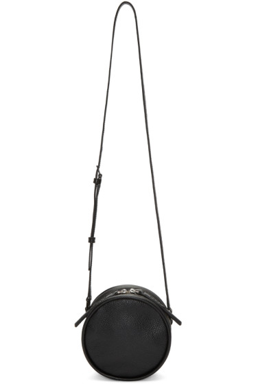 Kara - Black Leather Circle Bag
