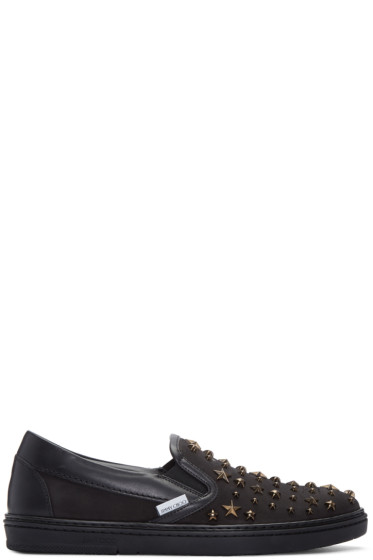 Jimmy Choo - Black Star Grove Slip-On Sneakers
