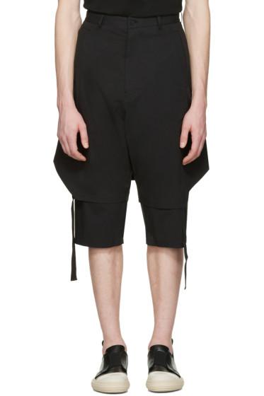 D.Gnak by Kang.D - Black Layered Shorts