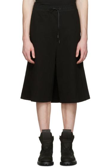 D.Gnak by Kang.D - Black Wrap Back Lounge Shorts