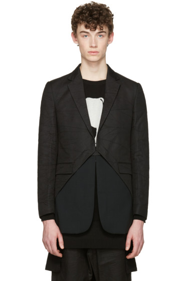 D.Gnak by Kang.D - Black Oblique Blazer