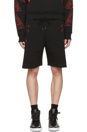 Marcelo Burlon County of Milan - Black Lamborghini Lounge Shorts
