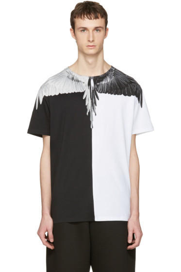 Marcelo Burlon County of Milan - Black & White Naldo T-Shirt
