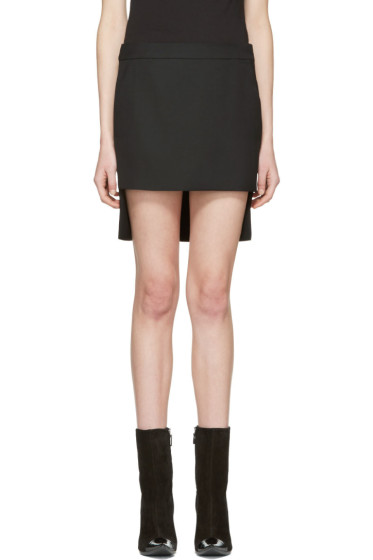 Haider Ackermann - Black Cut Front Skirt