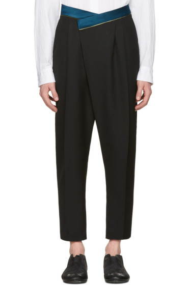 Haider Ackermann - Black Wool Band Trousers