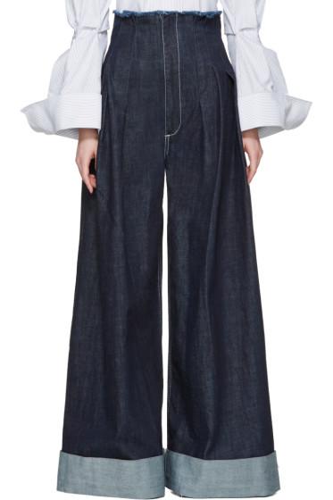Jacquemus - Navy 'Le Pantalon de Nimes' Jeans