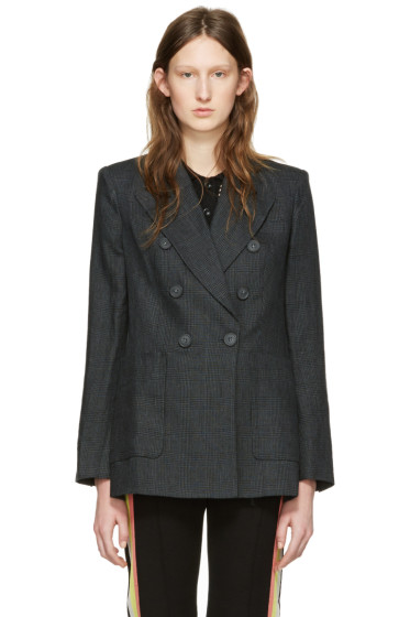 Isabel Marant Etoile - Green Linen Check Janey Blazer