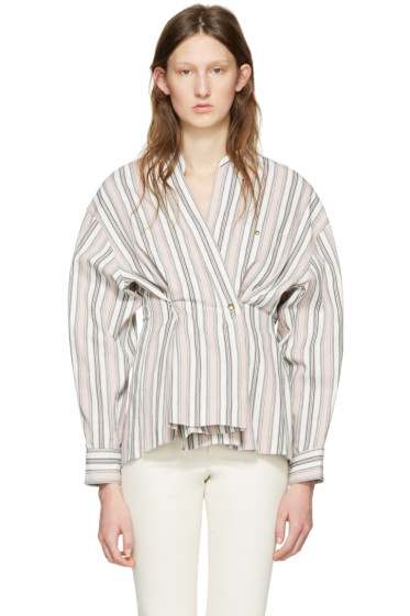 Isabel Marant - Ecru Striped Silvia Blouse