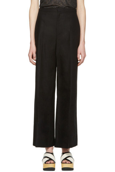 Isabel Marant - Black Cotton Spanel Trousers