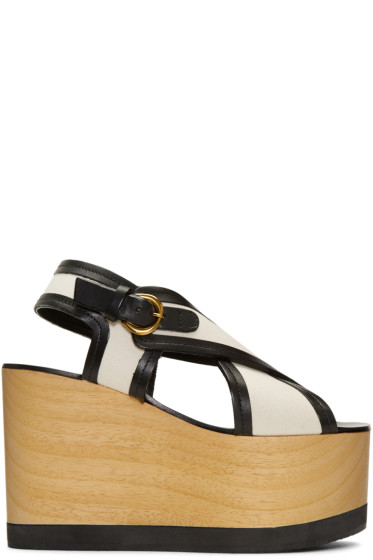 Isabel Marant - Ecru Zlova Wedge Sandals