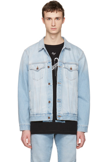 Off-White - Blue Denim Scorpion Jacket