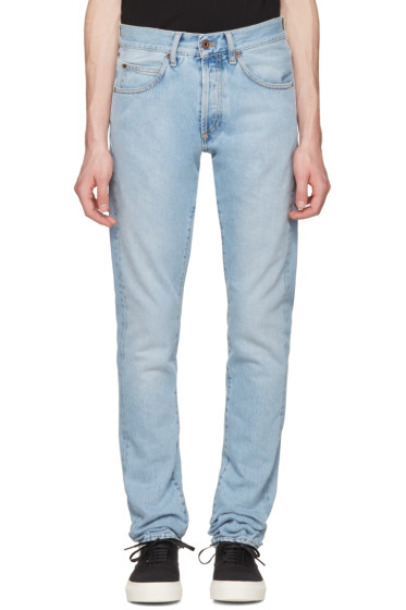 Off-White - Blue Slim Spray Diagonal Jeans