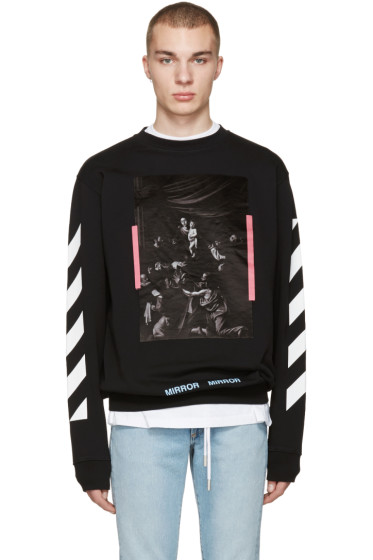 Off-White - Black Diagonals Caravaggio Pullover