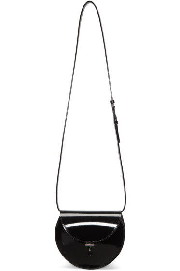PB 0110 - Black Patent Leather AB 21 Shoulder Bag