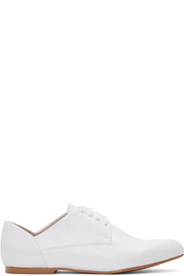 Jil Sander Navy - White Leather Galaxy Derbys