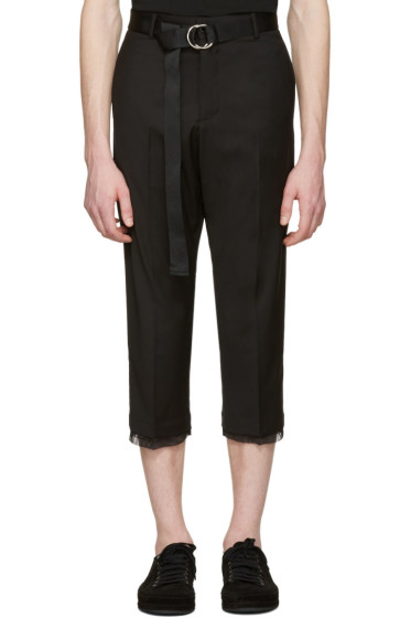 D by D - Black Belted Trousers
