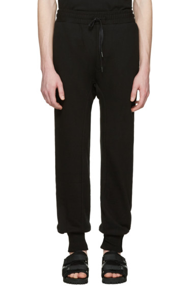 D by D - Black French Terry Lounge Pants