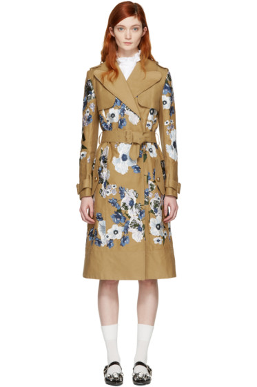 Erdem - Tan Susan Trench Coat