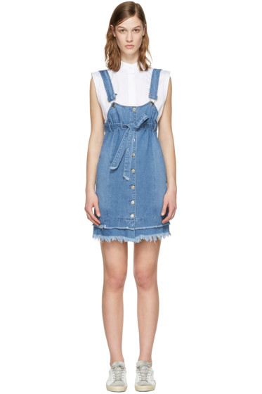 SJYP - Blue Denim Button Dress
