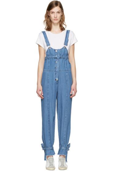 SJYP - Blue Denim Strap Overalls